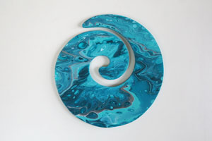 EWD Acrylic Fluid Painting Turquoise Koru th